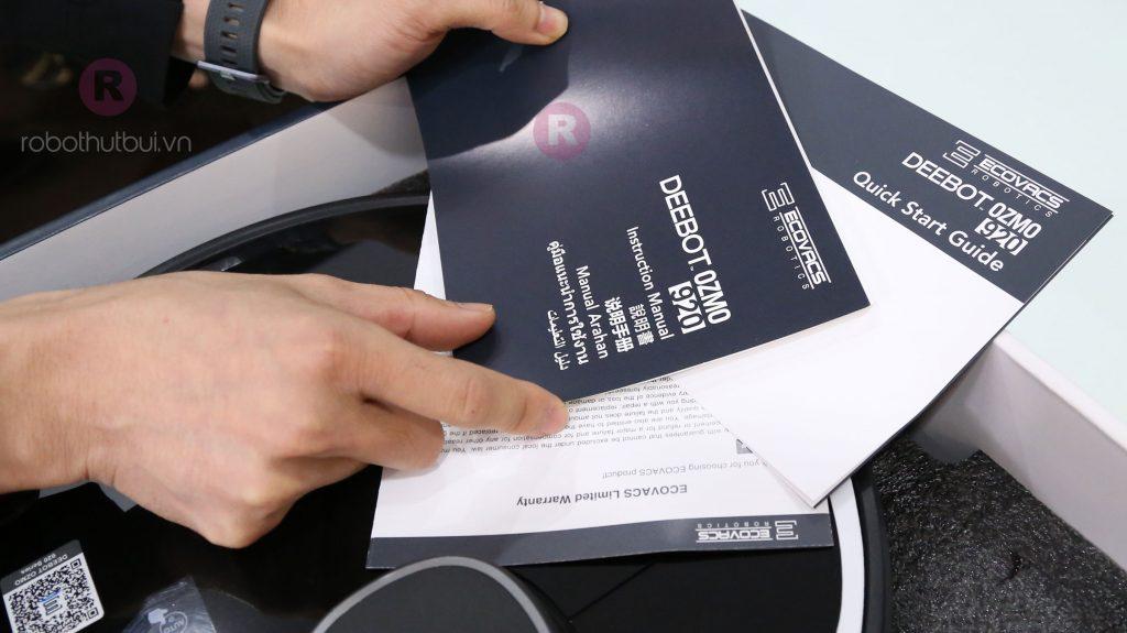 DEEBOT OZMO 920 sách hướng dẫn sử dụng